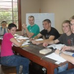 Biviana, second from left, teaches the Costa (coast) class