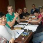 Viviana with her students