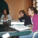 Irene, left, teaches the Selva (rain forest) class