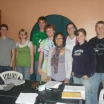Irene with the members of her class