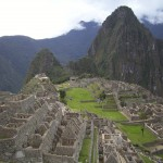 Our first view of the sacred city of Machu Picchu