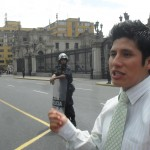 Our guide, Pedro, explains the Changing of the Guard