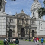 The cathedral on the Plaza de Armas