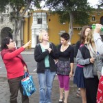 Our study coordinator, Celia, introduces our students to Barranco