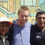 With his World Vision supervisors