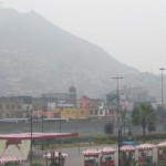 Cerro San Cristobal, from downtown Lima