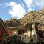 View from our hotel at Ollantaytambo
