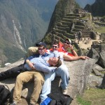 Relaxing on Machu Picchu