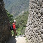 Amazing steps at Machu Picchu