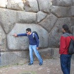 Our guide Salvador explains the amazing stonework at Sacsayhuaman