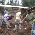 More dirt transportation at Clemencia's house in Lucre