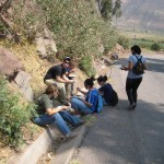 Lunch on a mountain road in Lucre