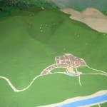a model of the village and trail