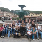 in the Plaza de Armas