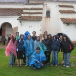 outside the colonial church in Chinchero