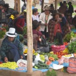 at the Chinchero market