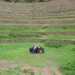 in the concentric farming terraces of Moray