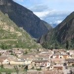 the view from Ollantaytambo fortress