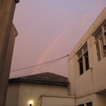 the rainbow leading to our despedida