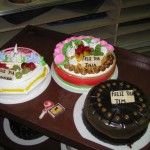 Three of our five birthday cakes for February and March