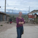 down the street from the clinic in Ayacucho