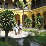In a courtyard at Santo Domingo monastery