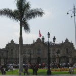the government palace (Peru's White House)