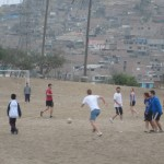 Playing fútbol in Villa Maria