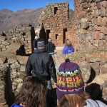 exploring the ruins at Pisac