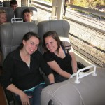 the day before: on the train to Aguas Calientes, the town outside Machu Picchu
