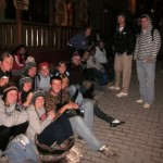 4:45 a.m.: waiting for the bus to Machu Picchu
