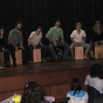 The cajón performance