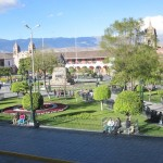 Ayacucho's central plaza