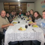 Dinner at the Communidad RETO Internacional Mennonite Church