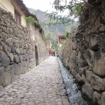 "Typical street in Ollantaytambo, Peru's ""living museum"""