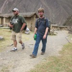 Arrival at the Ollantaytambo archaeological site