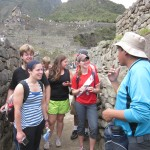 Entering the ancient city with our guide, Oswaldo