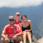 First group to reach the top of Huayna Picchu