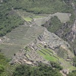 View of Machu Picchu (Old Peak) from Huayna Picchu (Young Peak)