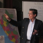 Eduardo Arroyo, writer and sociology professor, lectures on ethnic diversity in Peru