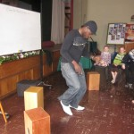 Camilo demonstrates the Zapateo, a unique form of tap dance