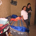 Hannah with Alicia in her room in Tarica