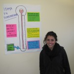 Hannah helped design this poster for the health education program