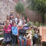 Gathered with Luis, Sandra and friends at their home in Cusco
