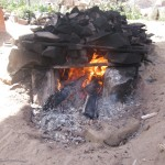 Heating the stones for the Pachamanca (earth pot)