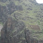 The next day -- visiting the colcas (storage areas) at Ollantaytambo