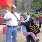 Teresa with Alicia and Oswaldo at a trout farm above Huancayo