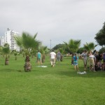 Games on the malecon, the bluff-top park near the ocean