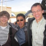 With their host father (and our Andes coordinator), Pastor Roberto