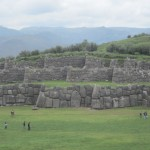 View of the three-layered construction at Sacsayhuaman